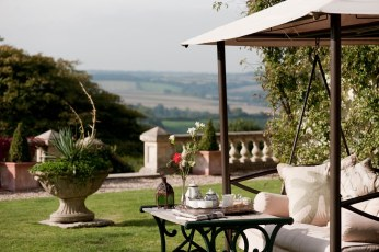 The view from the garden over the beautiful Devon countryside