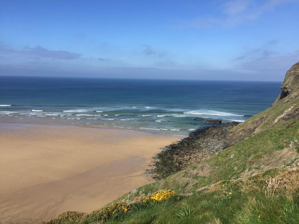 Sea from the cliffs Mawgan Porth